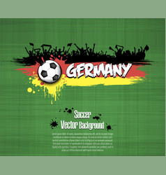 Flag of germany and football fans vector