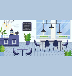 flat modern empty coworking vector image