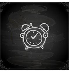 Hand drawn alarm clock vector