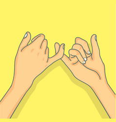 hand pinky promise concept vector image