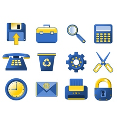 icons - blue and yellow vector image