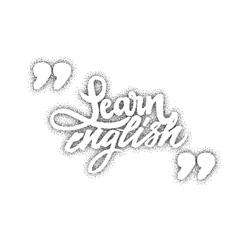 Learn Engish Calligraphic dotworking font Unique vector image