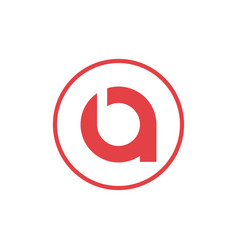Letter a negative space letter b with circle icon vector