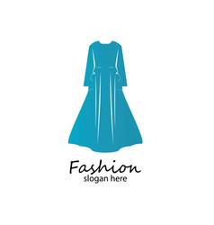 Long dress muslim dress arabic abayaluxury vector