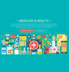 Medicine and health design concept set vector