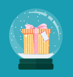 New years gift stock flat vector