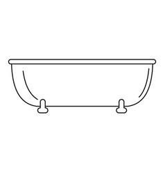 old bathtube icon outline style vector image
