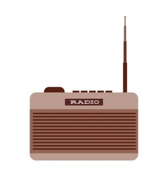 old radio isolated icon design vector image