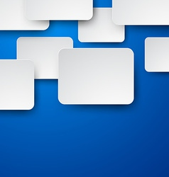 Paper white notes on blue vector image
