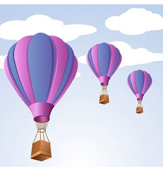parachute in sky vector image