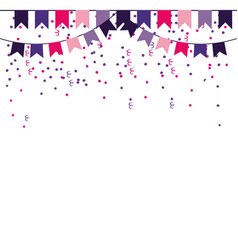 Party pennants frame vector