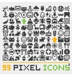 Pixel art web icons set 2 vector