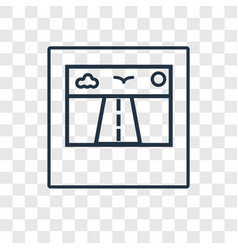 polaroid concept linear icon isolated on vector image