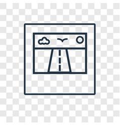 Polaroid concept linear icon isolated on vector
