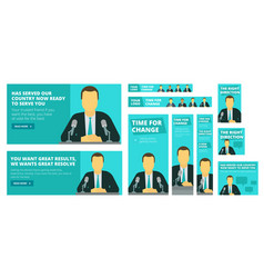 political election campaign politician vector image