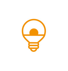 round bulb energy electricity light yellow line vector image