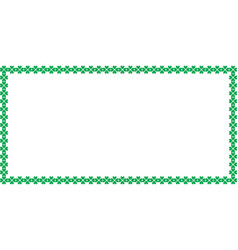 Saint patricks day rectangle border made of vector