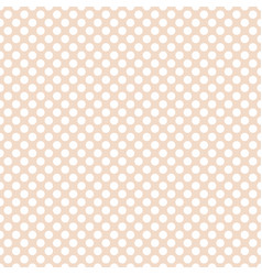 Seamless pattern with white polka dots on pink vector