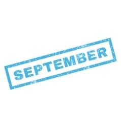 September Rubber Stamp vector