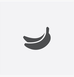 simple banana icon vector image