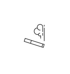 Smoking area line icon vector