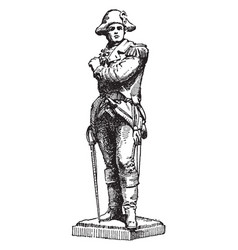 Statue of ethan allen was a american sculpture vector