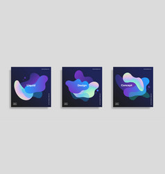 trendy design templates with fluid gradient shapes vector image