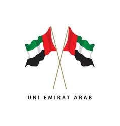 uni emirat arab flag template design vector image