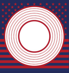 Usa star pattern round frame american vector