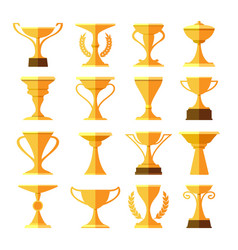 victory leaderships trophy cups vector image