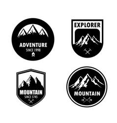 vintage logo mountain vector image