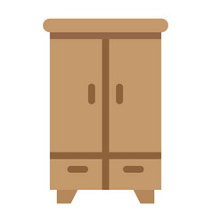 Wardobe flat icon furniture and interior vector
