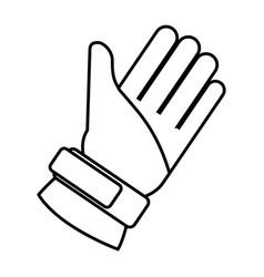 winter glove accessory icon vector image