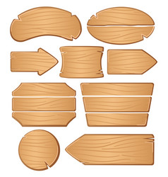Wooden boards for banners or messages vector