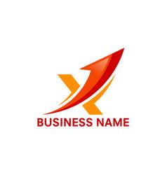 X initial business logo vector