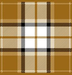 yellow and black tartan plaid seamless pattern vector image