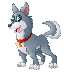 dog cute cartoon vector image vector image