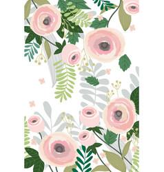 flower background banner pastel color vintage vector image