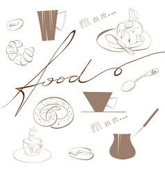 inscription food vector image