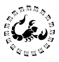 zodiac sign Scorpio vector image vector image