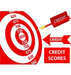 bank credit report vector image