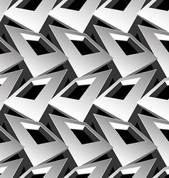 Black and white 3D square abstract seamless vector image vector image