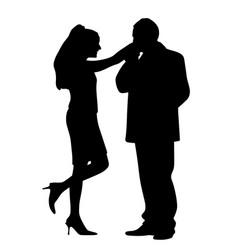 man kissing womans hand vector image