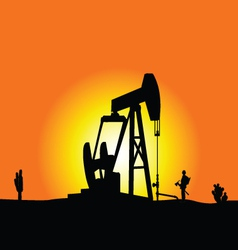 oil well color vector image