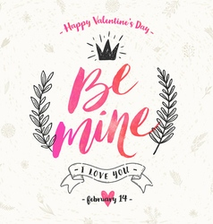 Valentines day hand drawn vector