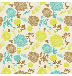 Vintage Flowers Seamless Pattern vector image vector image