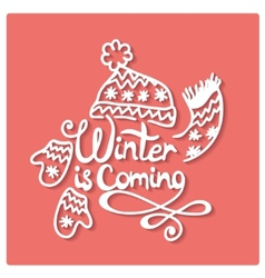 Winter is coming christmas frame vector