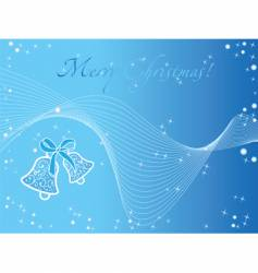 blue christmas wallpaper with bells vector image vector image