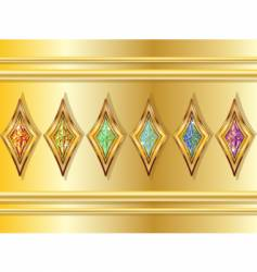 fictional diamonds set vector image