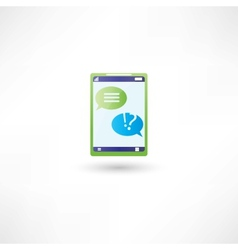 message support on phone vector image vector image